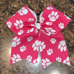 Accessories - Pink Paw Print Bow